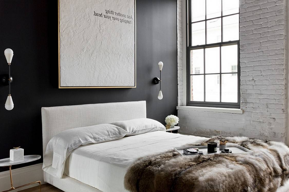 Bedroom Contrast Way Accent Wall Ideas Designs Chaos