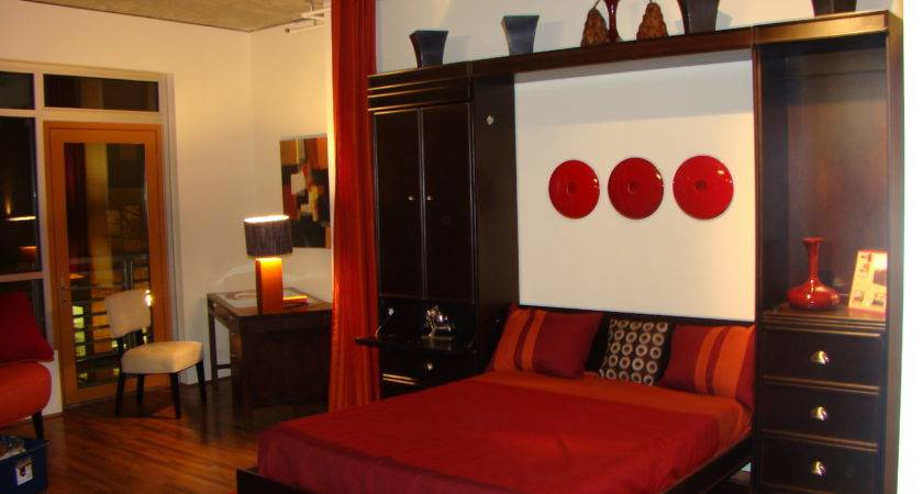 Bedroom Cool Red Paint Idea White