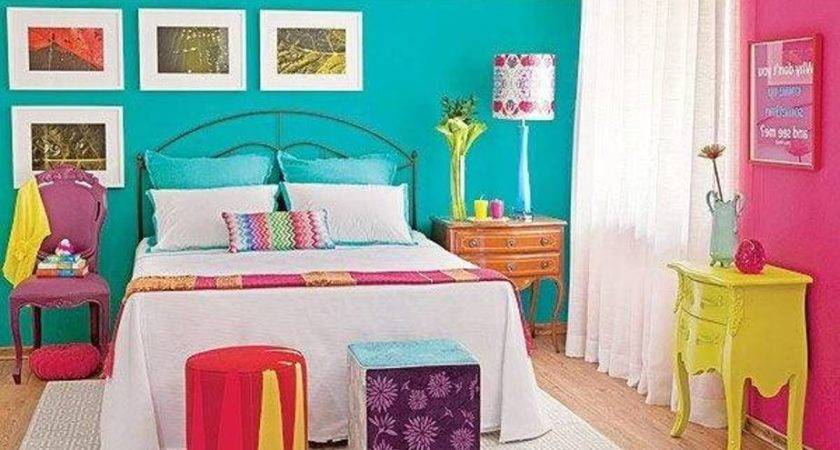 Bedroom Decorating Colors Pink Blue Walls Yellow