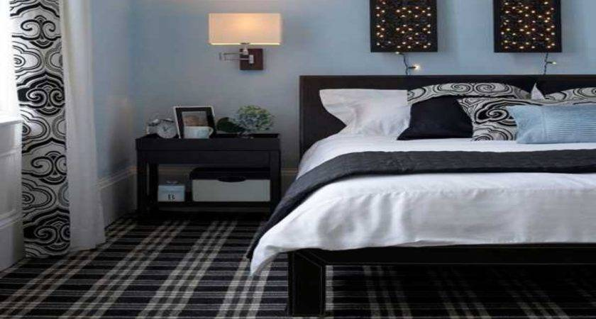 Bedroom Decorating Ideas Black White Blue