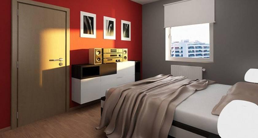 Bedroom Electric Red Master Design Ideas