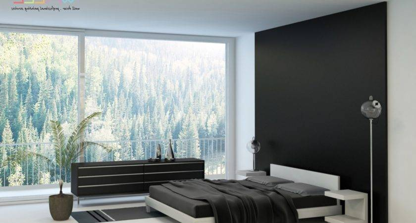 Bedroom Feature Wall Paint Ideas Black Walls Idco