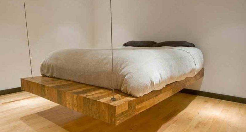 Bedroom Floating Bed Frame Homemade Diy