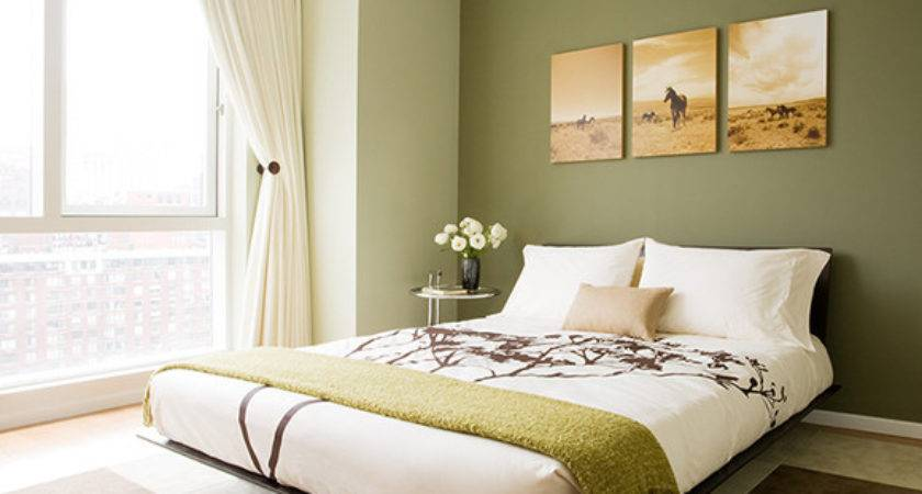Bedroom Green Walls Simple Home Decoration