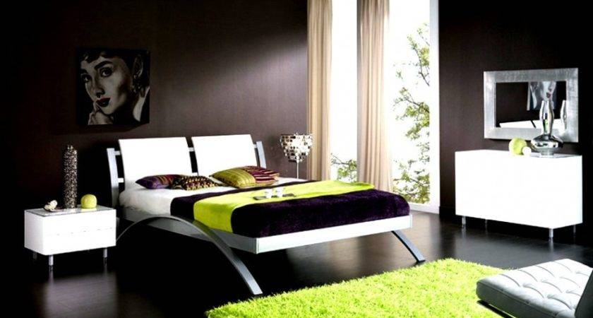 Bedroom Ideas Green White Home Attractive