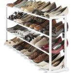 Bedroom Simple White Colored Closet Shoe Rack Shoes