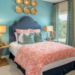 Bedroom Teal Gold Asian Los Angeles Drawer