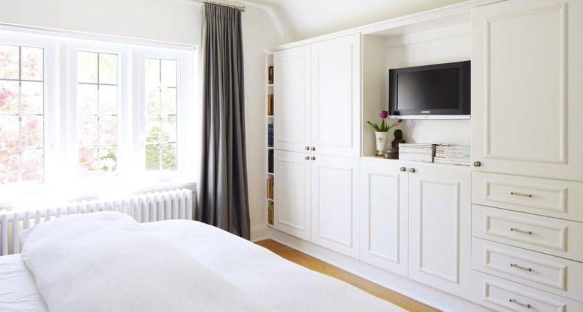 Bedroom Wall Built Cabinets Storage Space