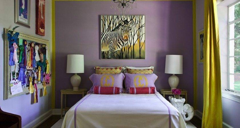 Bedrooms Purple Curtains Home Staging Accessories