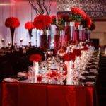 Beguiling Red White Wedding Decorations Pink