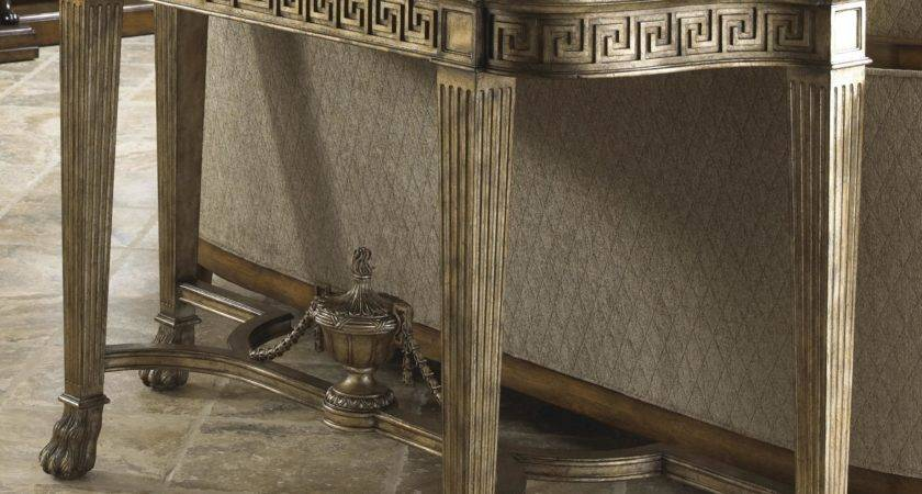Belvedere Grecian Style Marble Topped Sofa Table Fine