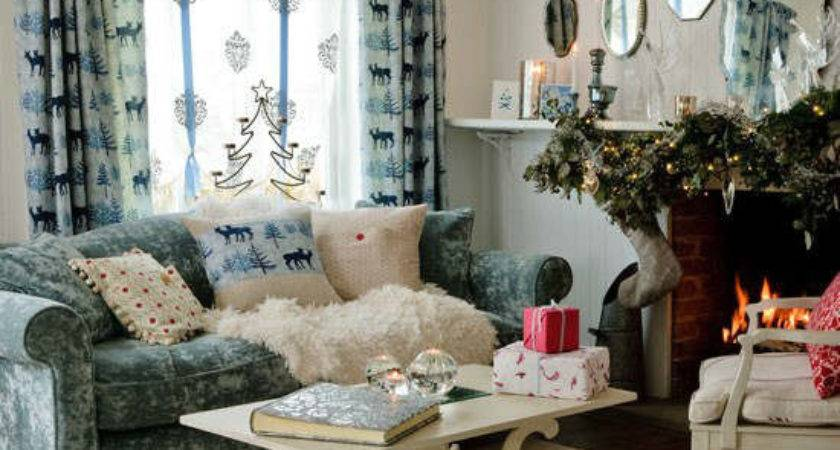 Best Christmas Country Living Room Decorating Ideas