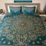 Best Home Bedroom Teal Brown Gold