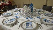 Best Silver Blue Christmas Table Decorations