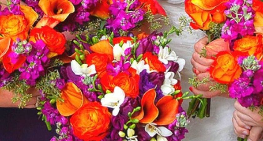 Best Wedding Purple Orange Pinterest