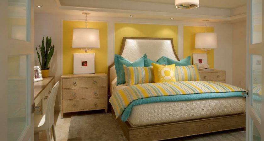 Best Yellow Teal Bedroom Contemporary Home Design