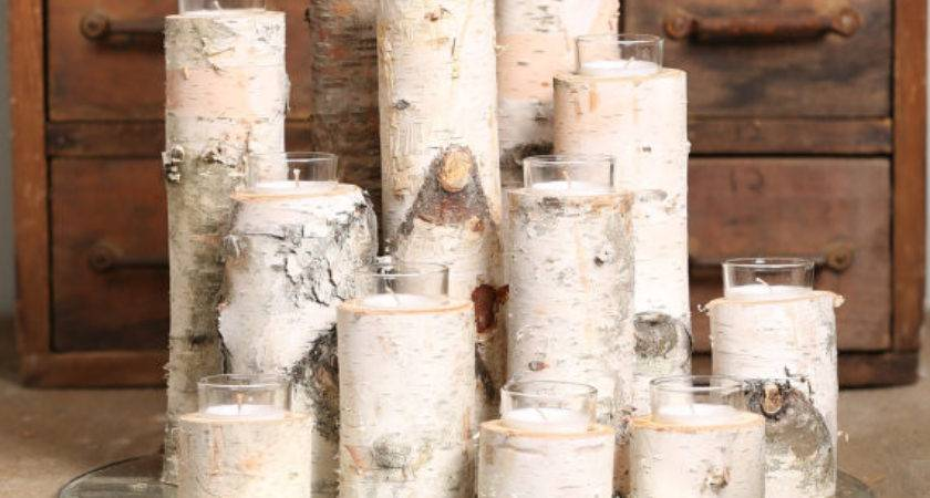 Birch Votive Candle Holders Set Thereclaimery Etsy