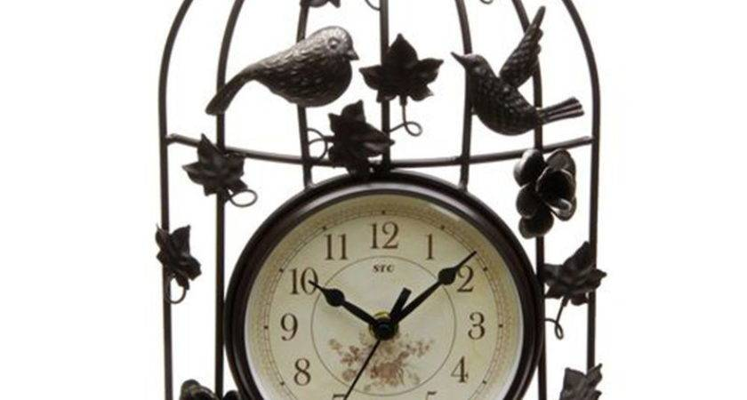 Bird Cage Clock Promotion Shopping Promotional