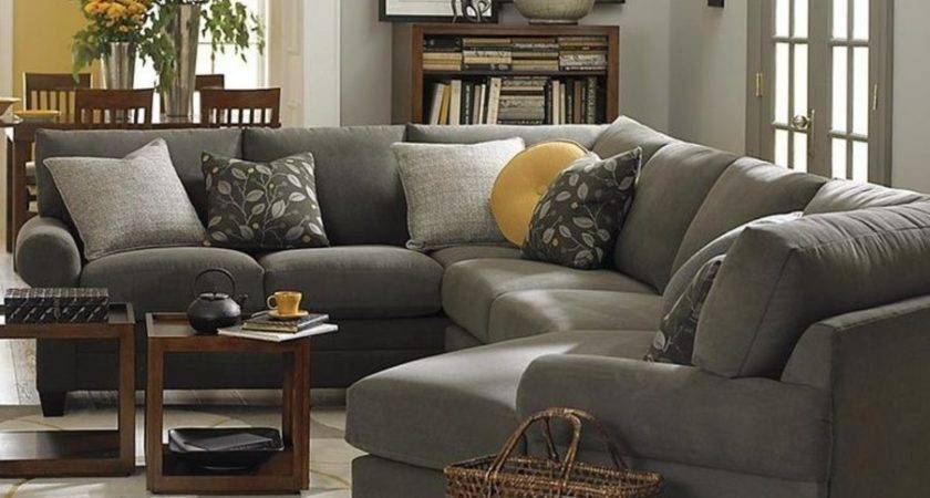 Black Brown Yellow Living Room Gray Sectionals Mustard