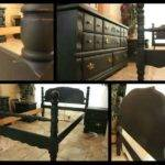Black Distressed Shabby Chic Complete Bedroom Set Just