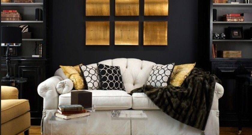Black Gold Living Room Contemporary