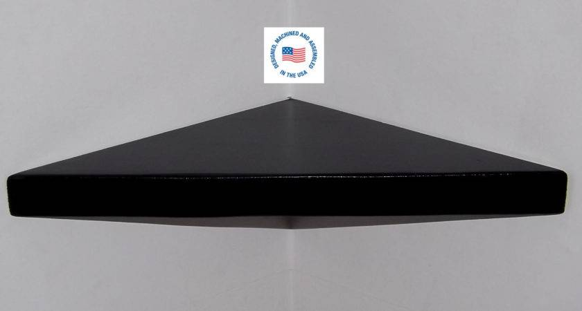 Black Inch Floating Corner Shelf Bawoodworking