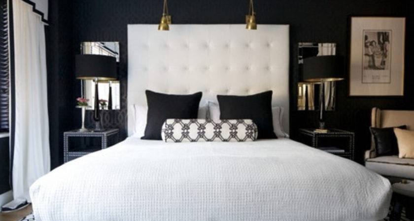 Black Interiors Headboards White