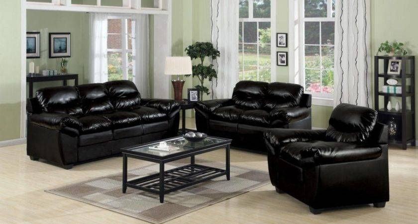 Black Leather Sofa Living Room Design Excited Home