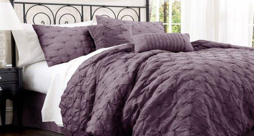 Black Purple Comforter Set