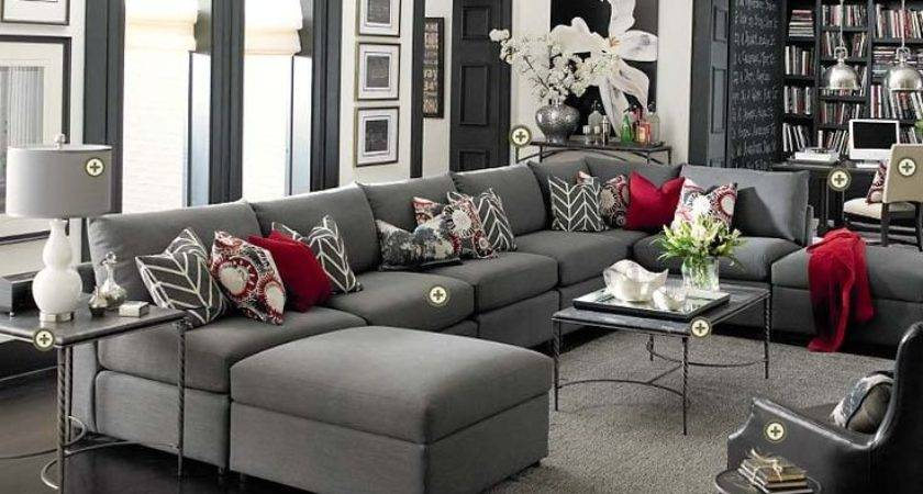 Black Red Gray Living Room Ideas
