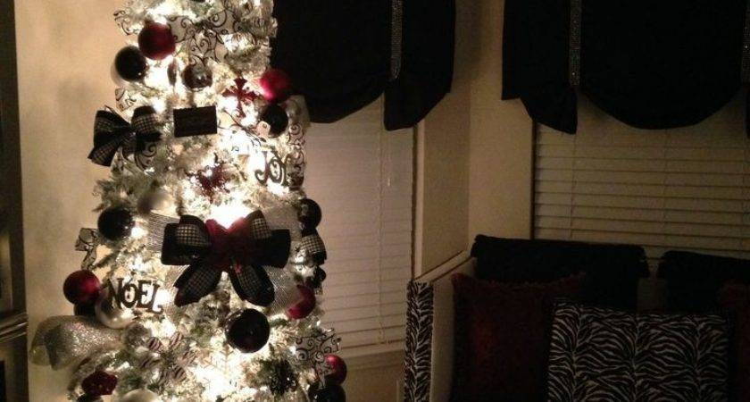 Black Red Silver Christmas Decorations