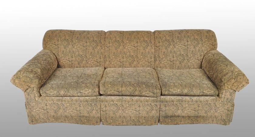 Black Tan Upholstered Couch Ebth