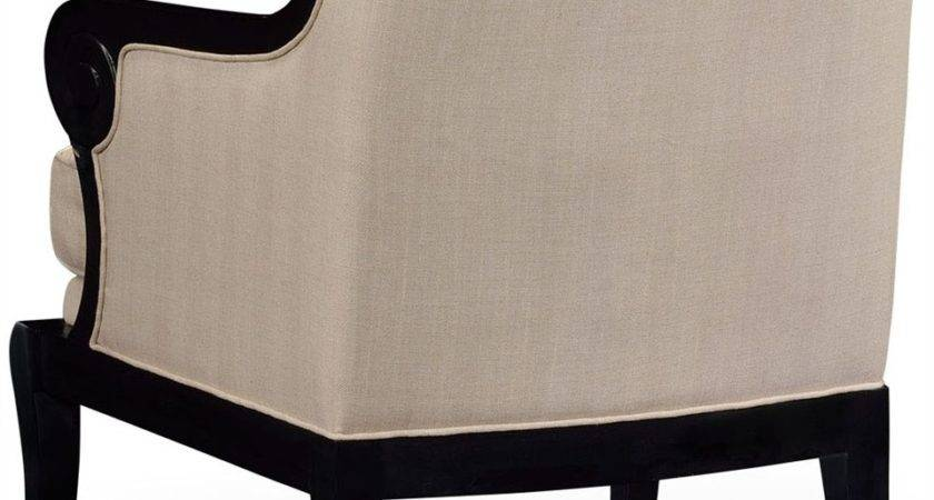 Black Tan Upholstered Occasional Chair