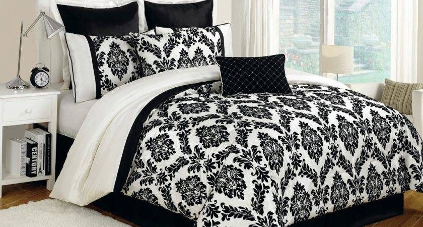 Black White Bed Sets Comforter Room