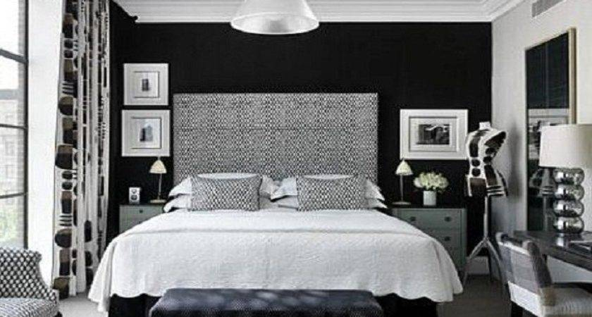 Black White Bedroom Accent Wall Paint Ideas