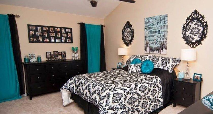 Black White Bedrooms Blue Accents Video