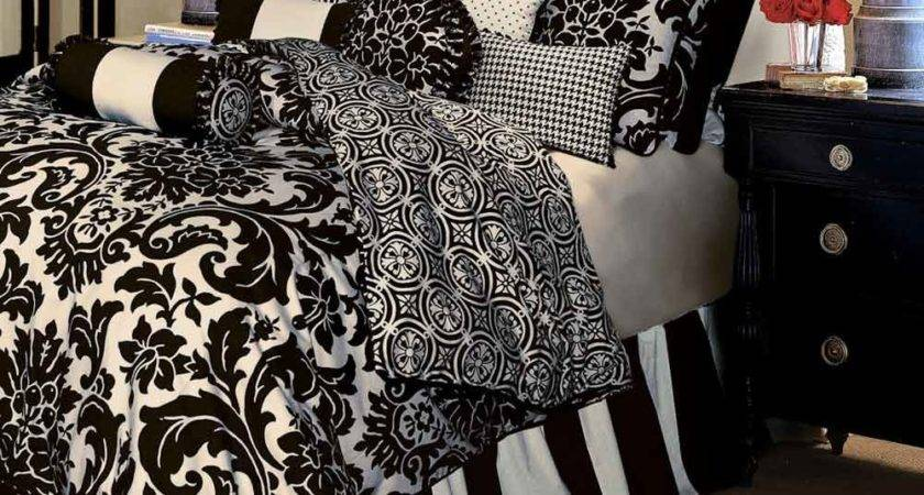Black White Bedspreads Bedroom Ideas