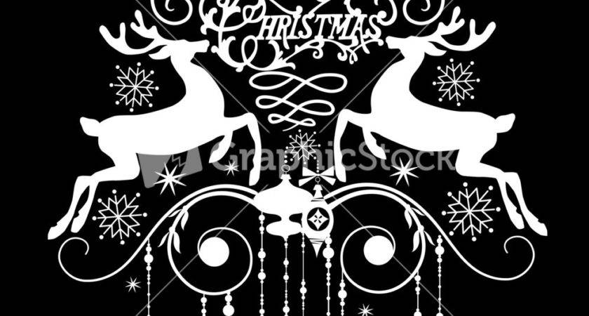 Black White Christmas Card