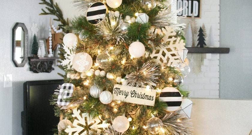 Black White Christmas Tree Decorating Ideas