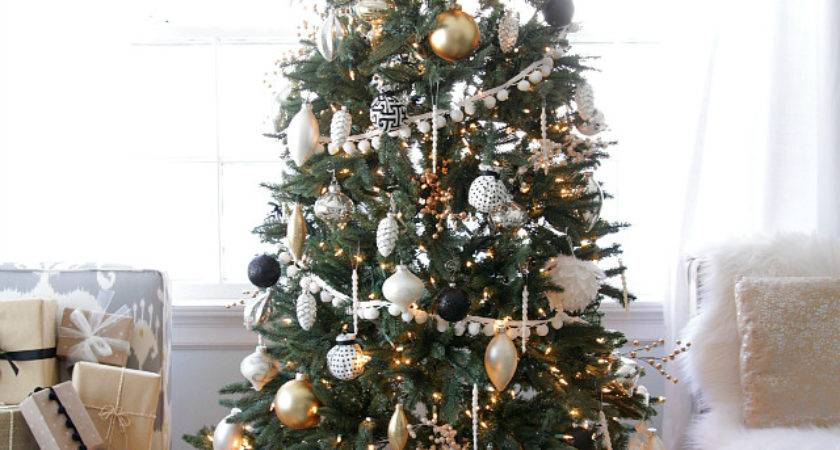 Black White Christmas Tree Ornaments