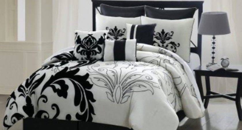 Black White Comforter Set Queen Bed