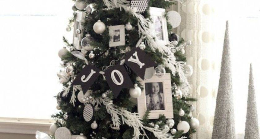 Black White Decorated Christmas Trees Designcorner