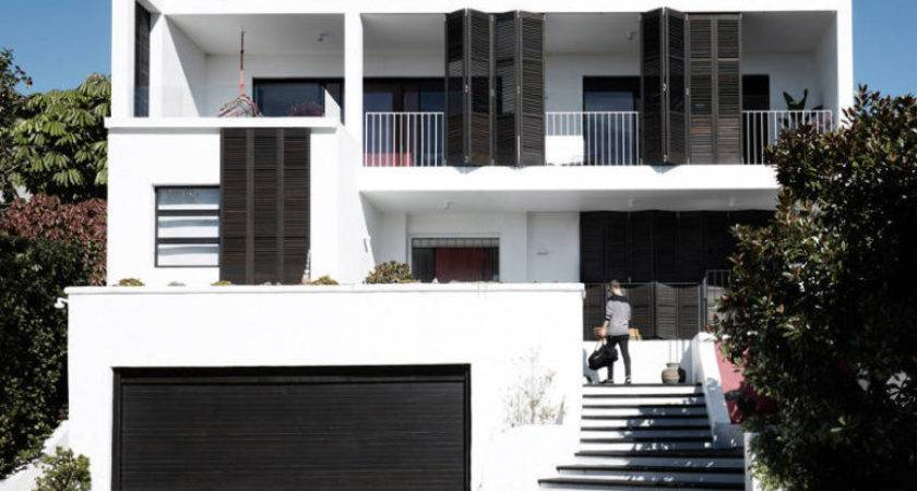 Black White House Two Amazing Terraces Digsdigs