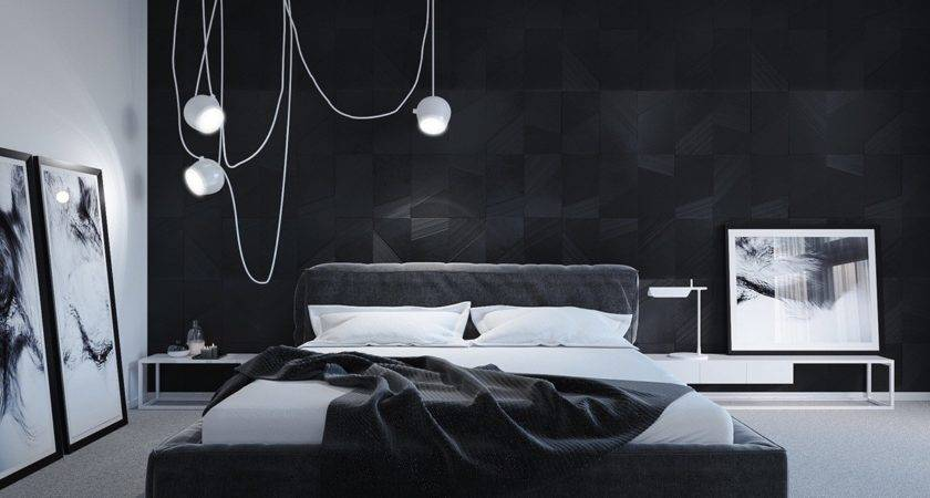 Black White Master Bedroom Shows Stretch