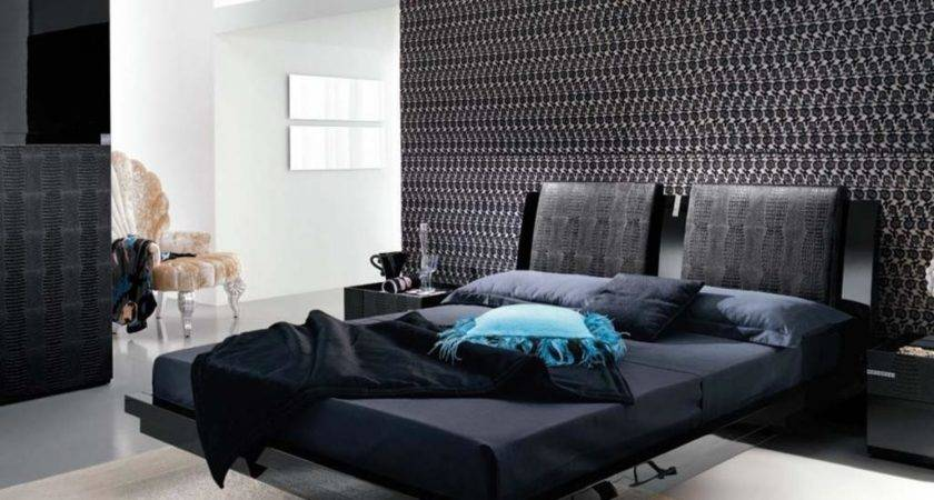 Black White Master Bedrooms Decoration Theme Home