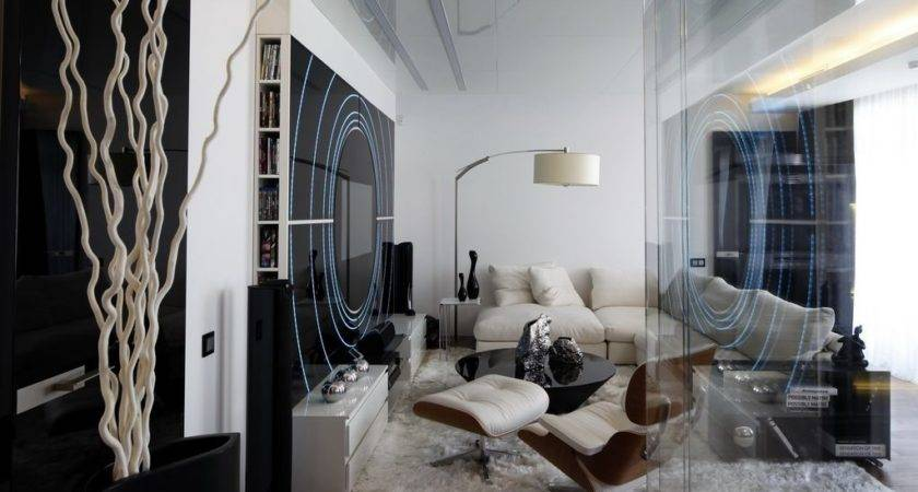 Black White Modern Apartment Interior Ideas