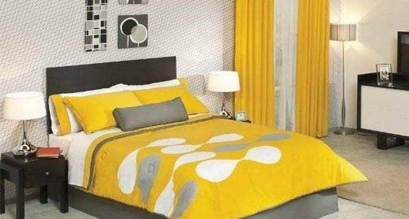 Black Yellow Bedding Decorate House