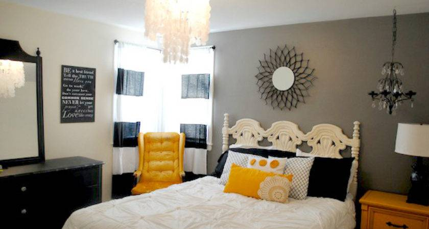Black Yellow Master Bedroom Makeover Classy Clutter