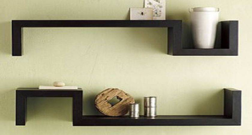 Bloombety Black Wall Shelves Symetrized Design