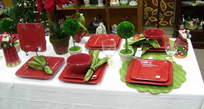 Bloombety Christmas Place Setting Ideas Red Bowl